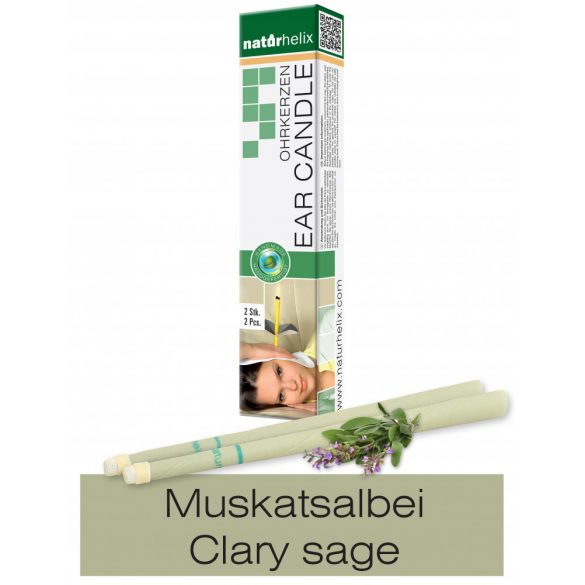Naturhelix Ear Candles with Clary Sage Oil, 2pcs Pack