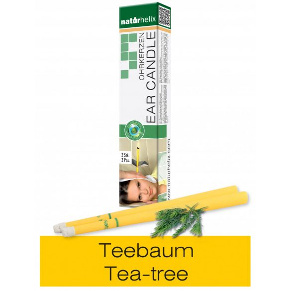 Naturhelix Ear Candles with Tea Tree Oil, 2pcs Pack