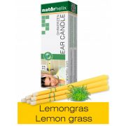 Naturhelix Ear Candles with Lemon Grass Oil, 6pcs Pack