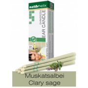 Naturhelix Ear Candles with Clary Sage Oil, 6pcs Pack