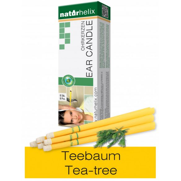 Naturhelix Ear Candles with Tea Tree Oil, 6pcs Pack