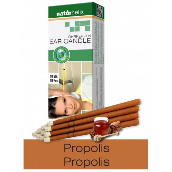 Naturhelix Ohrkerzen mit Propolis-Tinktur, 10er-Packung