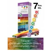 Naturhelix Mineral Chakra Candles Spectral Colors, 7pcs