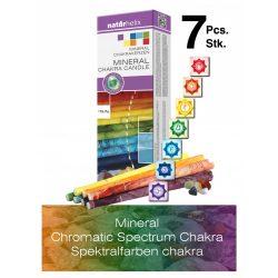 Naturhelix Mineral Chakra Candles Chromatic Spectrum, 7pcs
