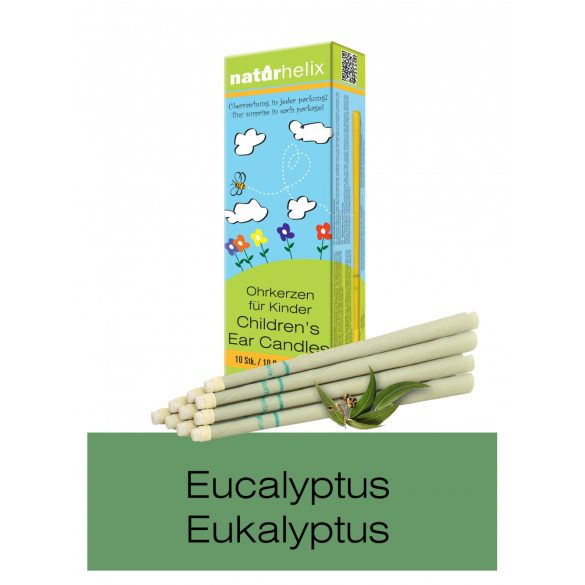 Naturhelix Children's Ear Candles with Eucalyptus Oil, 10pcs Pack