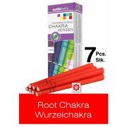 Naturhelix Chakrakerzen - Wurzelchakra / Rot, 7er-Packung