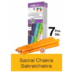 Naturhelix Chakra Candles Sacral Chakra / Orange, 7pcs Pack