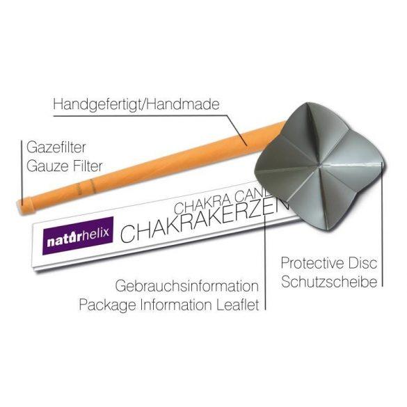 Naturhelix Chakrakerzen - Sakralchakra / Orange, 7er-Packung