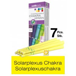 Naturhelix Chakrakerzen - Solarplexuschakra / Gelb, 7er-Packung