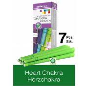 Naturhelix Chakra Candles Heart Chakra / Green, 7pcs Pack