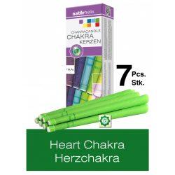 Naturhelix Chakrakerzen - Herzchakra / Grün, 7er-Packung