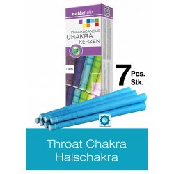 Naturhelix Chakra Candles Throat Chakra / Sky Blue, 7pcs Pack