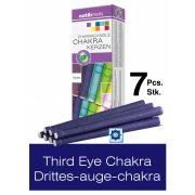 Naturhelix Chakra Candles Third-Eye Chakra / Indigo, 7pcs Pack