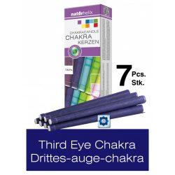 Naturhelix Chakrakerzen - Stirnchakra / Dunkelblau, 7er-Packung