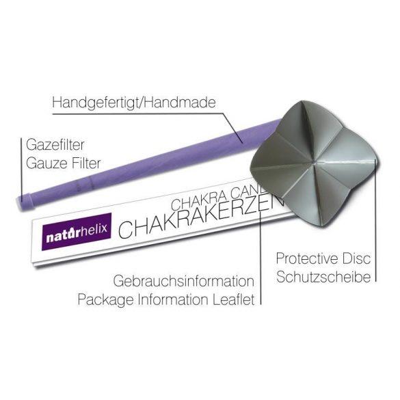 Naturhelix Chakrakerzen - Kronenchakra / Violett, 7er-Packung