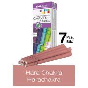 Naturhelix Chakra Candles Crown Chakra / White, 7pcs Pack