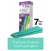 Naturhelix Chakrakerzen in Spektralfarben, 7er-Packung