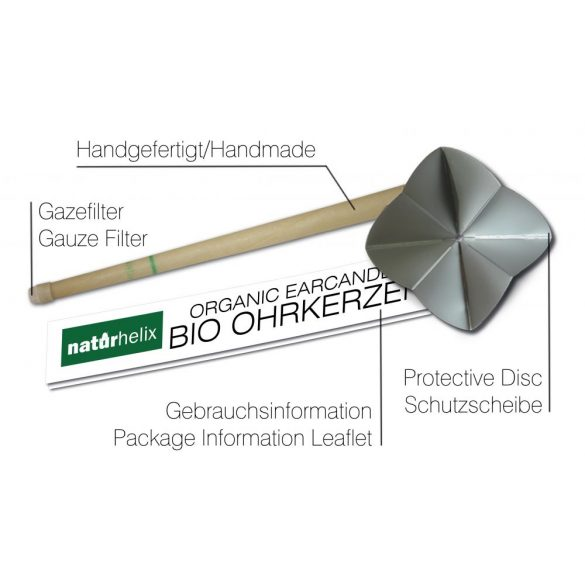 Naturhelix BIO-Ohrkerzen, 2er-Packung mit Teebaum BIO-Öl