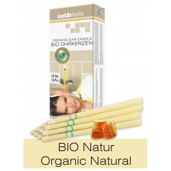 Naturhelix Organic Ear Candles - Natural, 10pcs Pack