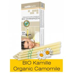 Naturhelix Organic Ear Candles with Chamomile Oil, 10pcs Pack