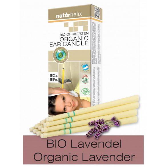 Naturhelix BIO-Ohrkerzen, 10er-Packung mit Lavendel BIO-Öl