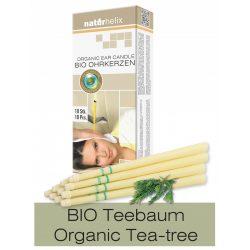 Naturhelix Organic Ear Candles with Tea Tree Oil, 10pcs Pack