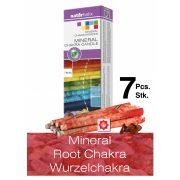 Naturhelix Mineral-Chakrakerzen - Wurzelchakra/Rot/Jaspis, 7er-Packung