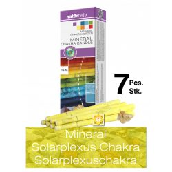 Naturhelix Mineral Chakra Candles Solar Plexus Chakra / Yellow, 7 pcs