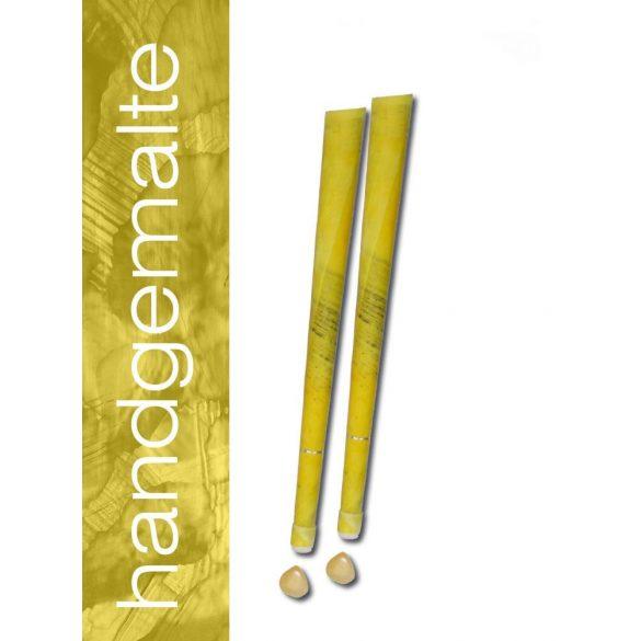 Naturhelix Mineral-Chakrakerzen - Solarplexuschakra/Gelb/Kalzit, 7er-Packung