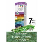 Naturhelix Mineral-Chakrakerzen - Herzchakra/Grün/Aventurin, 7er-Packung