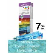 Naturhelix Mineral-Chakrakerzen - Halschakra/Hellblau/Chalzedon, 7er-Packung