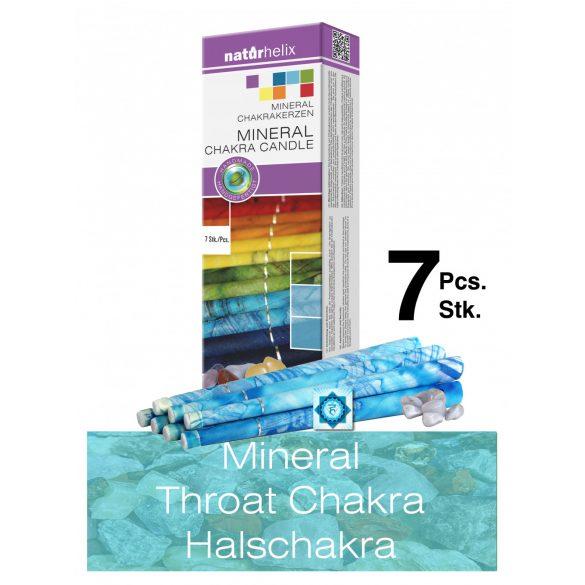 Naturhelix Mineral Chakra Candles Throat Chakra / Sky Blue, 7 pcs
