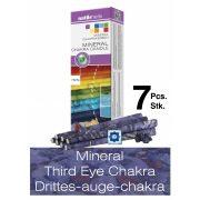 Naturhelix Mineral-Chakrakerzen - Stirnchakra/Dunkelblau/Sodalith, 7er-Packung
