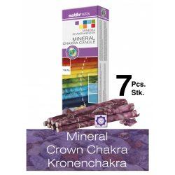 Naturhelix Mineral-Chakrakerzen - Kronenchakra/Violett/Amethyst, 7er-Packung